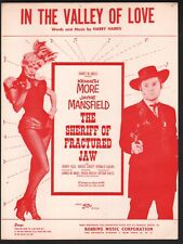 In The Valley of Love 1958 Jayne Mansfield Sherrif of Fractured Jaw Sheet Music