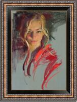 "Hand painted Original Oil Painting art Portrait girl on canvas 24""x36"""