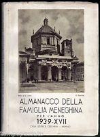 Milano - ALMANACCO DELLA FAMIGLIA MENEGHINA PER L'ANNO 1939 - CESCHINA 1938