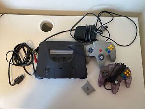 Nintendo 64 Console - Smoke Grey. 2 Controllers And All Wires. Tested And Works