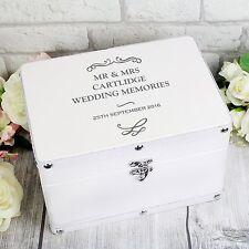 Personalised MR & MRS Wedding Memories Keepsake Storage Box Anniversary Gift