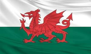 Wales Flag 5x3 / 150x90cm Large Polyester Welsh Dragon St Davids Day Rugby Sport