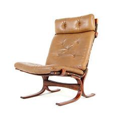 Rétro Vintage Design Danois en cuir & palissandre salon fauteuil easy chair 1970 S