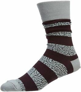 Jordan Mens Elephant Striped Crew Socks