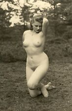 "144 # Vintage ""Agfa Lupex"" Pin-up girl blonde full nude nudo nus Akt FKK Nudist"