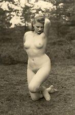 "144 # VINTAGE ""agfa lupex"" pin-up girl bionda FULL nude nudo NSI atto nudo Nudist"