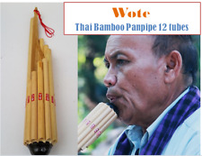 Wote Thai Bamboo Instrument Traditional Musical Panpipe Handmade Flute Isan Laos