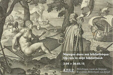 16th Century engraving Belgian Royal Library exhibition advert postcard Americas