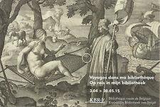16th Century engraving Belgian Royal Library exhibition advert postcard Americas