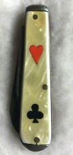 Gamblers Riverboat Gentlemen's Folding Knife Gambling Casino Roulette Craps Dice