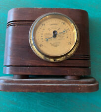 Antique Barometer Wood And Brass Bauer