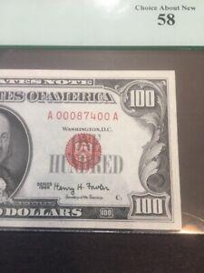 "1966 $100 DOLLAR BILL Fr-1500  ""FANCY LOW SERIAL#  A00087400A """