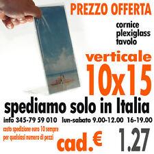 10.000 CORNICE PORTAFOTO PLEXIGLASS TRASPARENTE CM 10X15 da tavolo