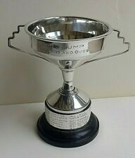 More details for vintage 1933, solid silver trophy cup long jump -136.17 grams