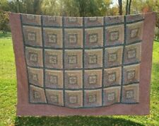 Country House Collection Full/Double Size 100% Cotton Log Cabin Rust Brown Stars