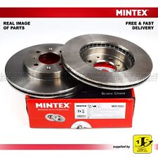 2X MINTEX FRONT DISC BRAKES MDC1023 HONDA CIVIC CRX JAZZ MG ROVER 25 45 200 400