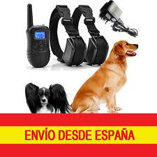 Collar 2 Perros Recargable Adiestramiento Antiladridos Vibración Pitido Descarga