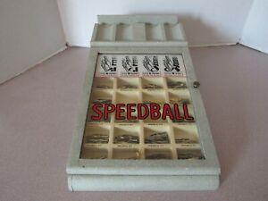 Vintage Speedball Calligraphy Pen Point Advertising Display Case