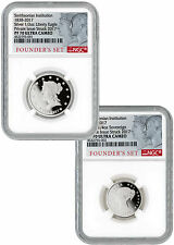 1838 Silver Smithsonian Founders - Set of 2 NGC PF70 UC Founders Label SKU45550