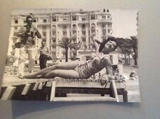 FESTIVAL DE CANNES 1962 : GLORIA MENESES - PHOTO ORIGINALE