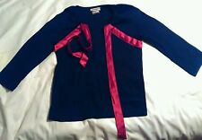 Red black Blouse Shirt Cotton ribbon, v neck, long sleeve,three sister