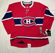 MONTREAL CANADIENS size 54 = sz XL  ADIDAS NHL HOCKEY JERSEY Climalite Authentic