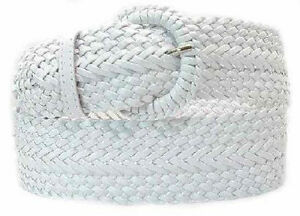 """#LS3003 -BLK, SILVER OR WHITE 3"""" BRAIDED FASHION BELT 4 WOMEN & FREE US SHIPPING"""