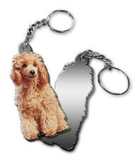 MIRRORED ACRYLIC TOY POODLE KEYCHAIN DOG KEYRING Made in USA KEY CHAINS CHAIN