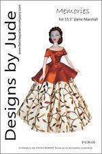 "Memories Doll Clothes Sewing Pattern for 15.5"" Gene Marshall Ashton Drake"