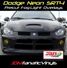 03-05 Neon MOPAR SRT SRT4 Euro EDM JDM Yellow Fog light TINT Overlays Vinyl Film