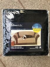 """Sure Fit Black Cotton Pet Throw for Sofa 74"""" - 96"""" Couch Furniture Friend NEW"""