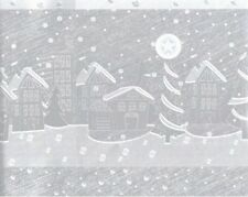 """VILLAGE HOUSES HOLOGRAPHIC FOIL CHRISTMAS GIFT WRAP PAPER -Large 24""""x30' Roll"""