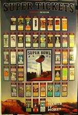 "Super Bowl XLII Super Tickets New York Giants 36 x 24"" Poster New"
