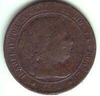 Monete 2 1/2 Centesimi Di Scudo Isabel II - Anno 1868 Om - Barcelona