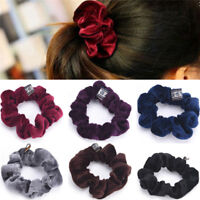 Women Velvet Hair Scrunchies Elastic Hair Bands Ties Ponytail Hair AccessoryAA