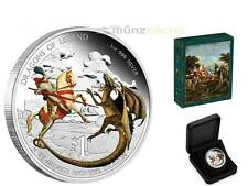 1 $dólares Dragons of Legend st. george Dragon Tuvalu 1 Oz plata Silver pp 2012
