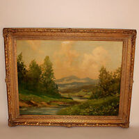 Oil on Canvas Painting German Landscape by Tiller