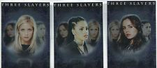 Buffy TVS Memories Complete Three Slayers Chase Card Set BL1-3