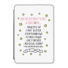"Reasons To Be A Unicorn Case Cover for Kindle 6"" E-reader - Funny"
