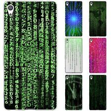 Dessana Matrix Code TPU Silicone Protective Case Case Pouch Cover For sony