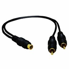 "ADC2112 14"" Y Splitter Cable 1 RCA female to 2 RCA male Audio2000's"