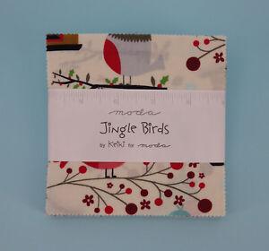 Charm Pack Moda, Jingle Birds, by Keiki, 42 Cuts, 100% Baumwolle, Precuts