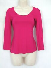 new HOBBS pink fitted jersey top size Small