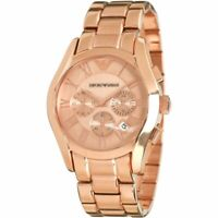 NEW EMPORIO ARMANI AR0365 MEN'S ROSE GOLD WATCH CHRONOGRAPH