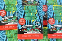 Topps Teenage Mutant Ninja Turtles Movie Trading Cards, One Wax Pack, 1990