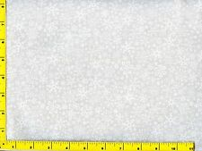 White on White Snowflakes Christmas Quilting Fabric by the yard  #3118