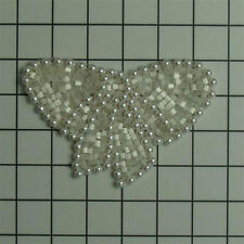 WHITE PEARL BOW BEADED APPLIQUE 2775-C