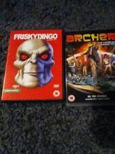 Archer Series 1 & Frisky Dingo Series 1 Adult Swim Dvds