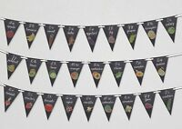 Back to School - Alphabet - Black Board - Bunting Banner 26 flags by PARTY DECOR