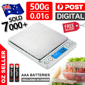 Kitchen Scales 0.01-500g Food Digital LCD Electronic Balance Weight Postal Scale